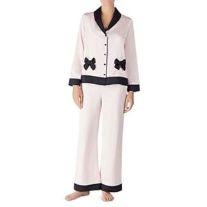 NWT Kate Spade ♠️ Satin Pajama Set Pink Large